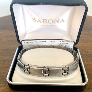 Sabona Executive Symmetry S Steel Bracelet